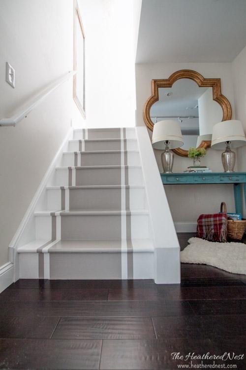 DIY Painted Stairs