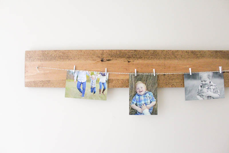 This DIY Photo Hanger is such a pretty way to display artwork or photos - changing them out is an absolute breeze and it's so simple to make too!