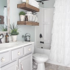 Virtual Remodel Kitchen Wall Tile 15 Farmhouse Style Bathrooms Full Of Rustic Charm - Making ...