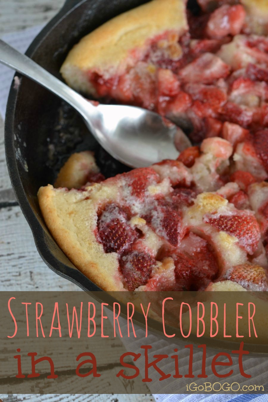 Skillet Strawberry Cobbler