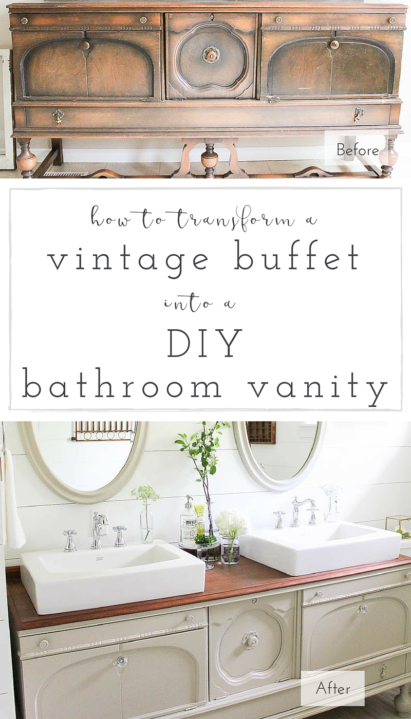 A step-by-step tutorial to turn any vintage piece into a gorgeous, one of a kind DIIY vanity! | www.makingitinthemountains.com