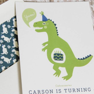 Celebrating Four with a Dinosaur Themed Party