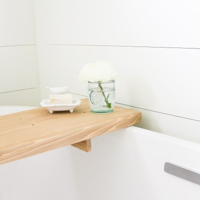 How to Make your own DIY Bathtub Tray