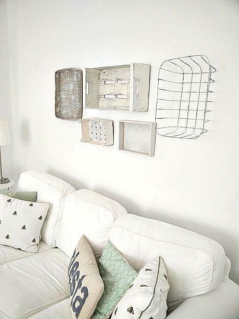Rustic Crate & Basket Gallery Wall
