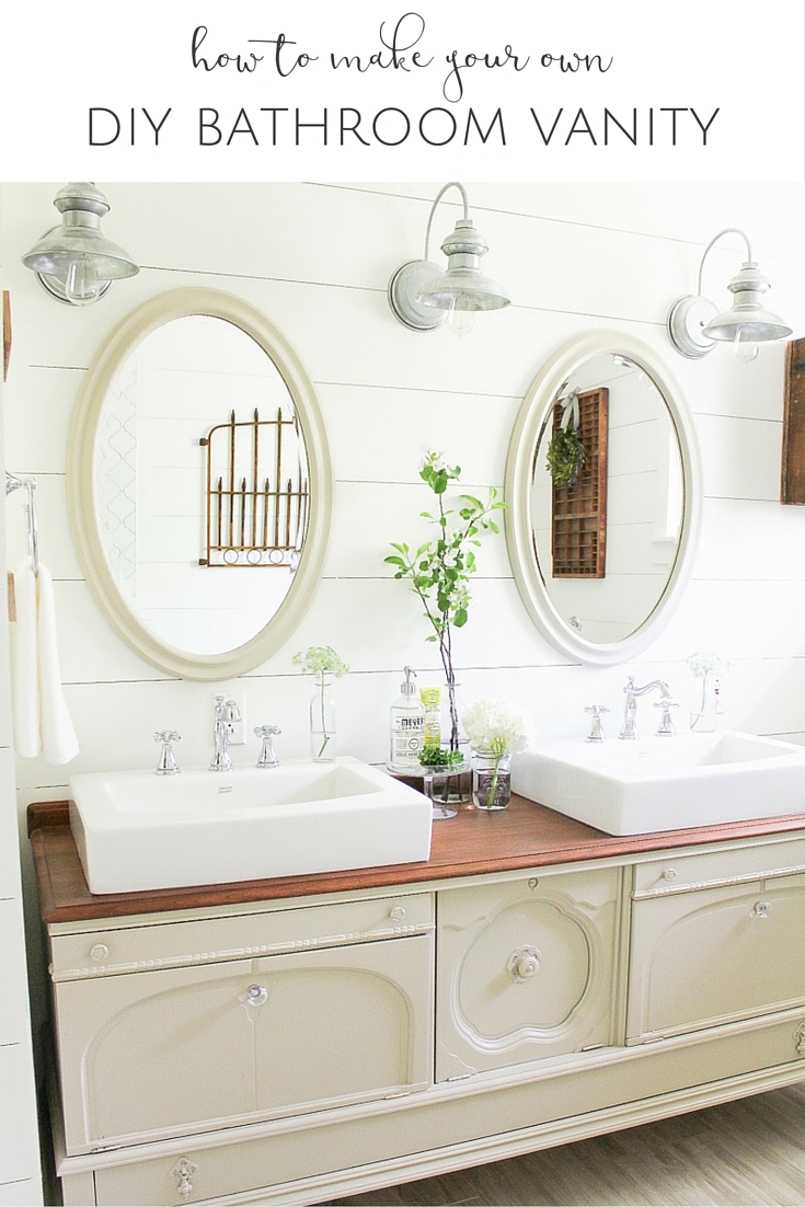 How To Transform A Vintage Buffet Into A DIY Bathroom Vanity - Who sells bathroom vanities