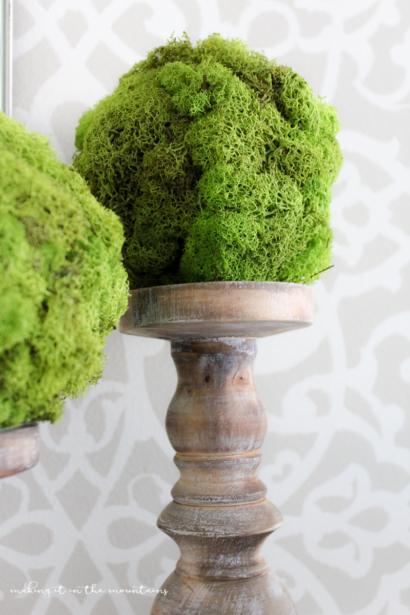 How to Make your own DIY Moss Topiary Balls  making it in the mountains