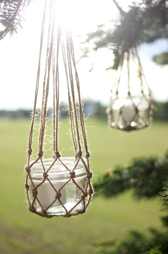 DIY Hanging Mason Jar Lanterns