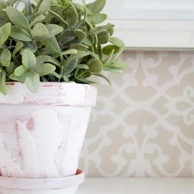 How to Transform Plain Old Terracotta Pots into Rustic Farmhouse Planters
