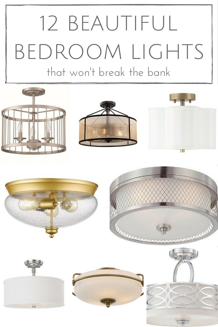 It's time to ditch those boring builder grade lights & replace the old outdated fixtures - with these 12 beautiful bedroom lights all coming in at less than $200, there's just no reason not to!