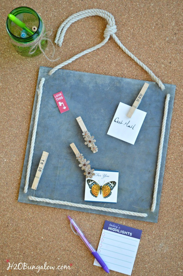 DIY Faux Zinc Memo Board