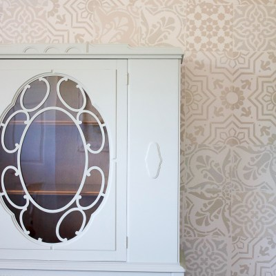 Farmhouse Style Office Storage: A Vintage China Cabinet Makeover