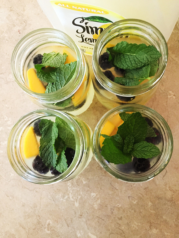 Mango Blackberry Mint Lemonade