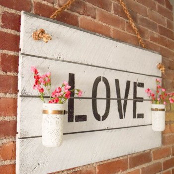 Rustic Farmhouse-Inspired DIY Shiplap Sign. Easy DIY to get the fixer upper style shiplap without actually shiplapping a room. Adds farmhouse style to your home!