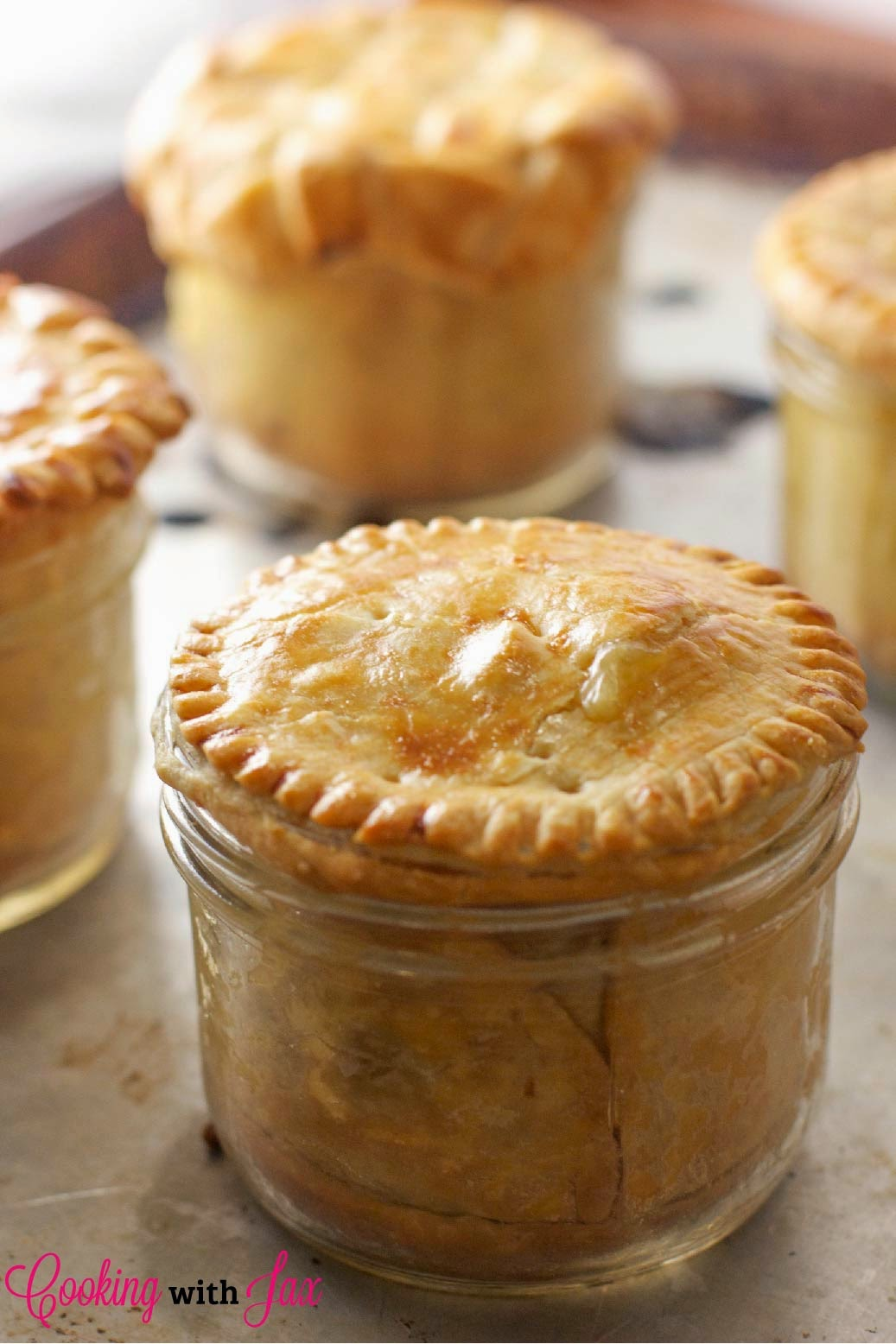 Mason Jar Chicken Pot Pie