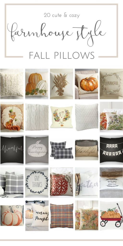 25 cute and cozy Fall pillows with farmhouse style