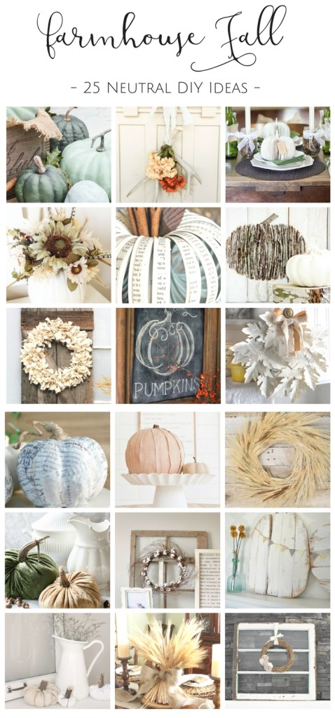 These 25 Fall DIY's are the perfect way to fill your home with gorgeous farmhouse fall decor without breaking the bank! | www.makingitinthemountains.com