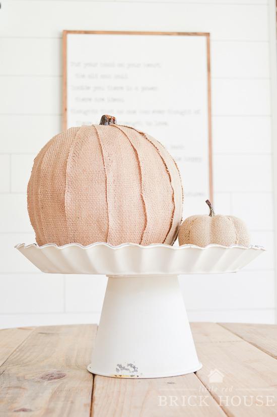 Burlap Pumpkin