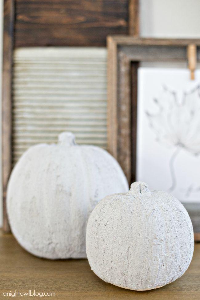 DIY Easy Concrete Pumpkins
