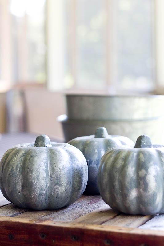 DIY Galvanized Pumpkins