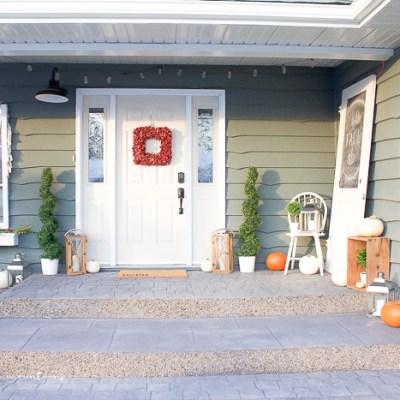 Cozy Farmhouse Style Fall Porch
