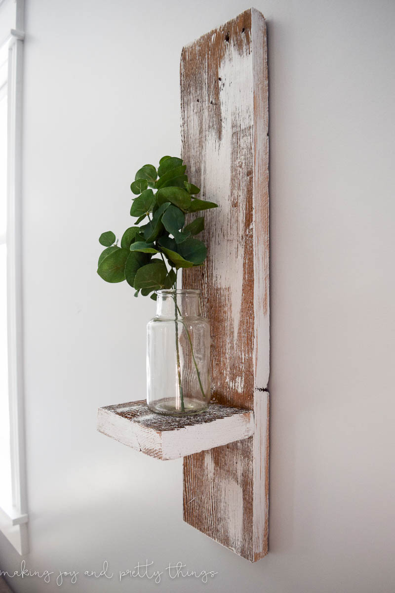 and reclaimed wall metal shelf wood shelves