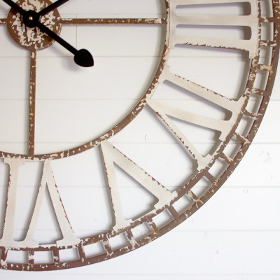 50+ Rustic Oversized Wall Clocks that are Big on Size, but Small on Budget