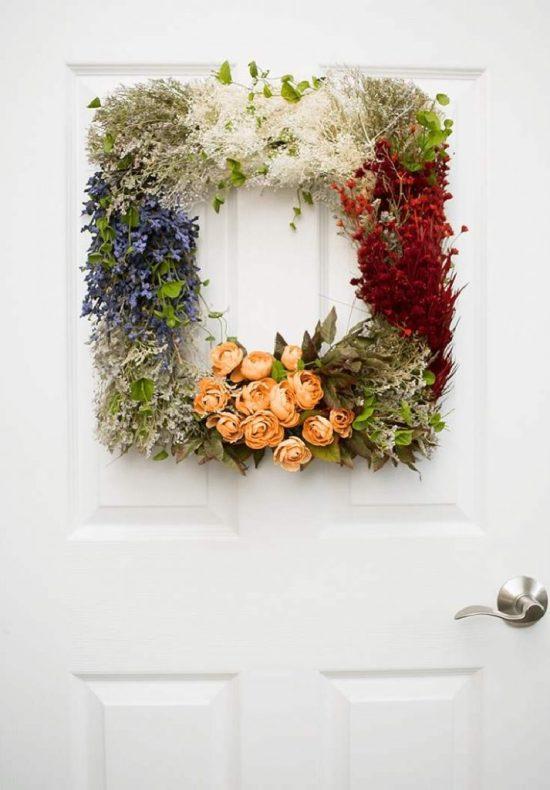 Vintage Flower Wreath