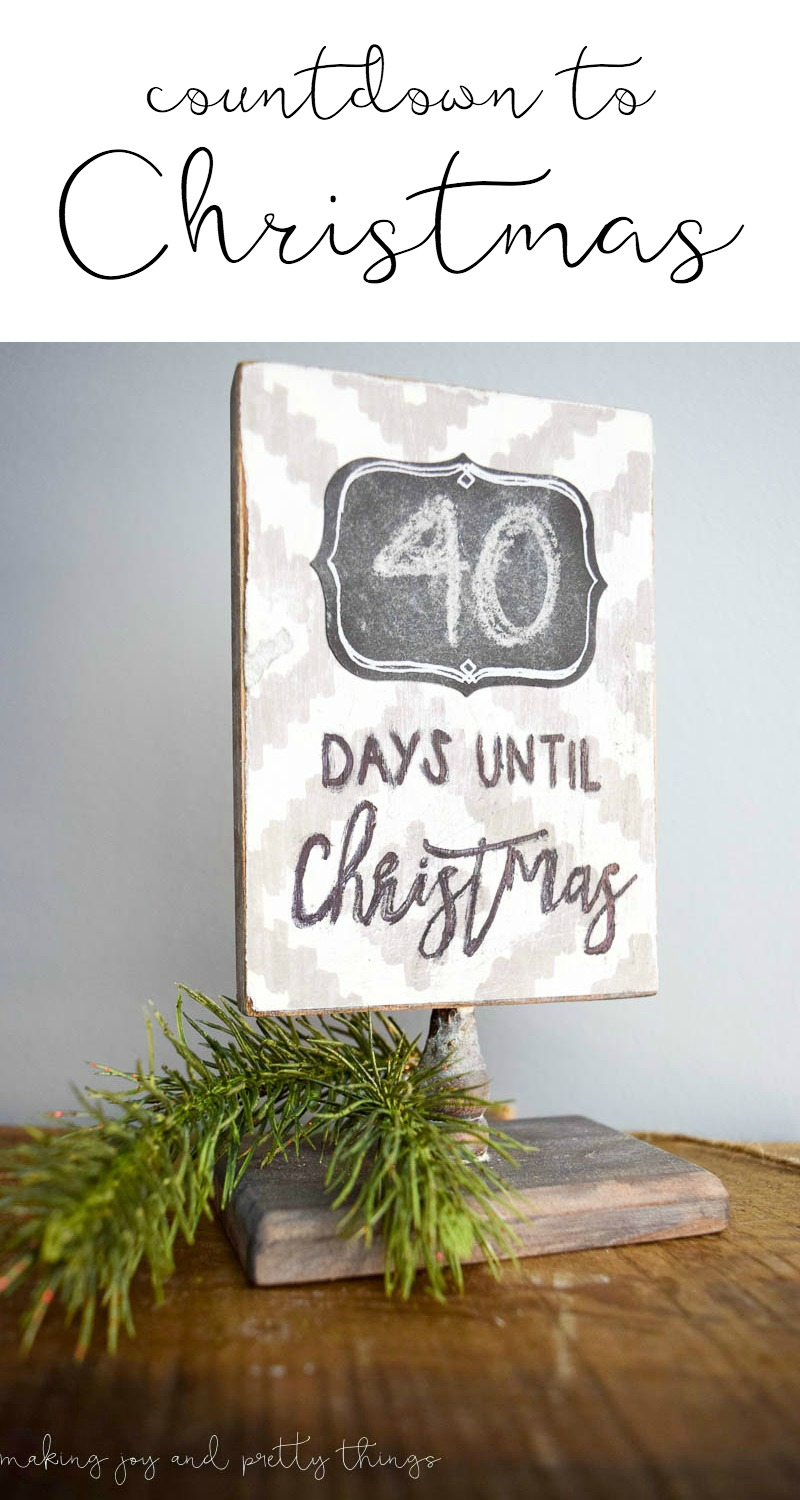 Jump into the holiday season with an easy DIY farmhouse-inspired christmas countdown sign.