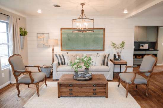 Fixer Upper Living Room Space