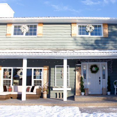Cozy Farmhouse Christmas Porch