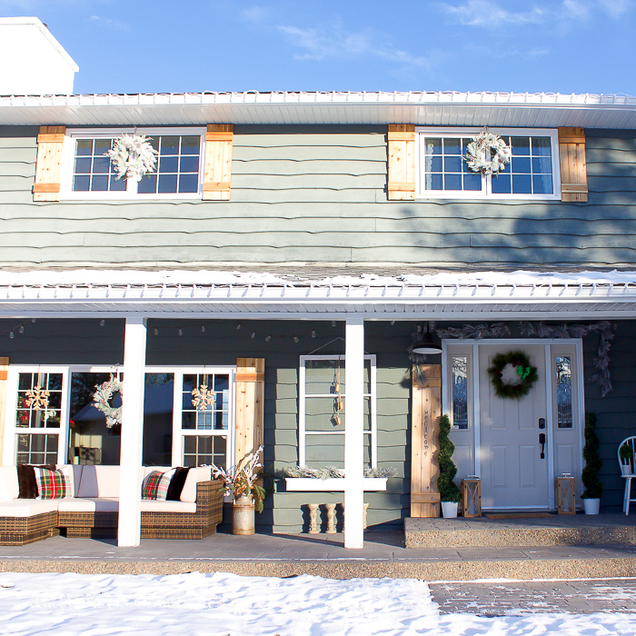 A Farmhouse Christmas Porch