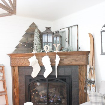 Corner fireplaces are notoriously hard to decorate - they tend to look awkward or empty and it can be so difficult to find symmetry with that deep angle at the back. I can't wait to show you how simple it can be to create a beautifully styled corner fireplace mantel that looks full and put together for the holidays!