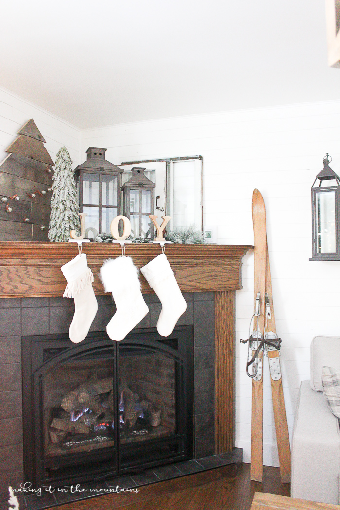 how to decorate a corner fireplace mantel for the holidays making it