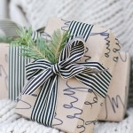 Festive Calligraphy Gift Wrap
