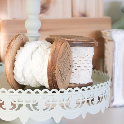 {A Touch of Farmhouse Charm}: How to Make a Vintage Wooden Spool