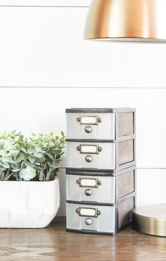 Updated mini dollar store storage drawers