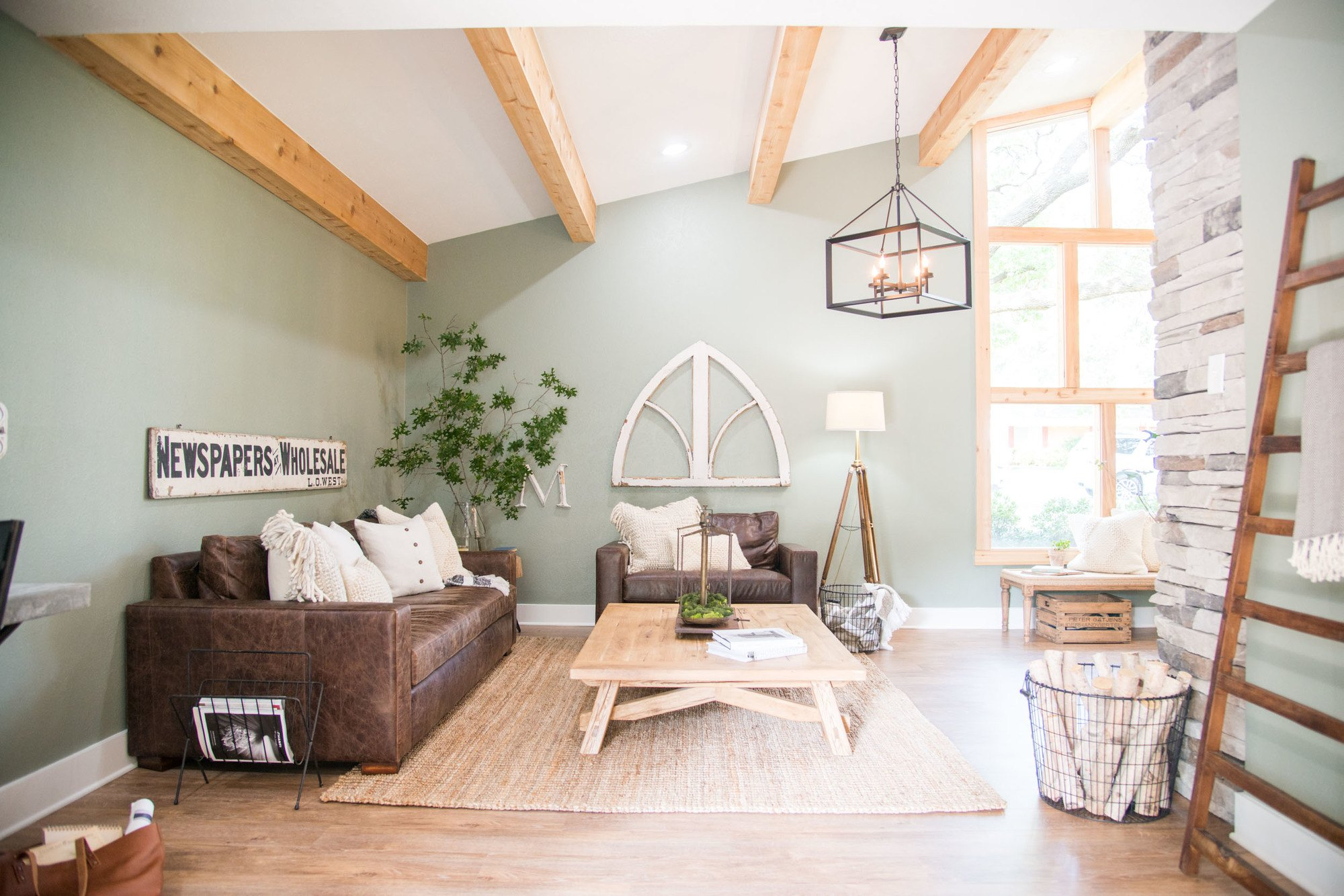 living room colors joanna gaines paint ideas photos how to choose the perfect farmhouse anyway is relatively dark with few windows and white shade on wall really makes it feel bright airy