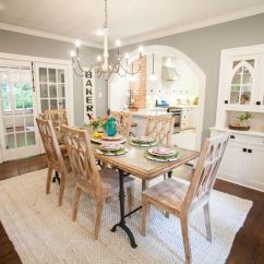 Living Room Colors Joanna Gaines Dark Floors Grey Walls How To Choose The Perfect Farmhouse Paint Darker Gray Green Color Here Is Beautiful Notice All Furniture White Offset And Has A Ton Of Natural Light With