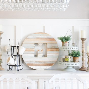 Turn your scrap wood into beautiful wall decor with this DIY Monogram!