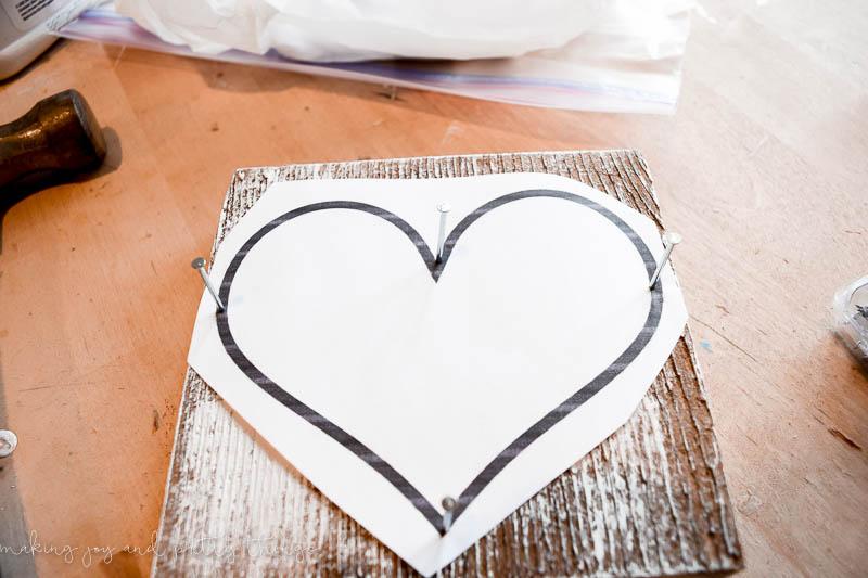 Rustic Barn Wood String Art Heart   string art ideas   string art DIY