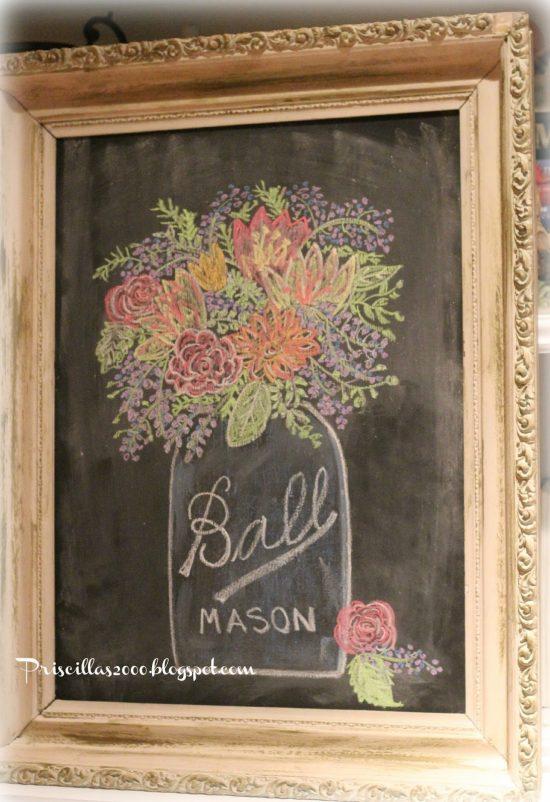 Mason Jar Chalkboard