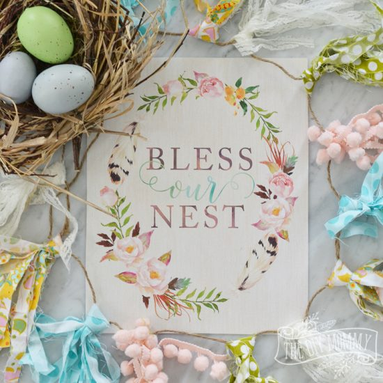Free Bless Our Nest Printable