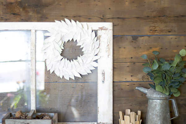 You won't believe how simple this lovely Magnolia style book wreath was to make!