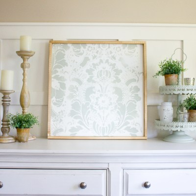 How to Make your own Farmhouse Style DIY Stencil Art