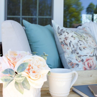 Farmhouse Spring Porch Decor: Simple Ways to Welcome Spring to your Front Porch