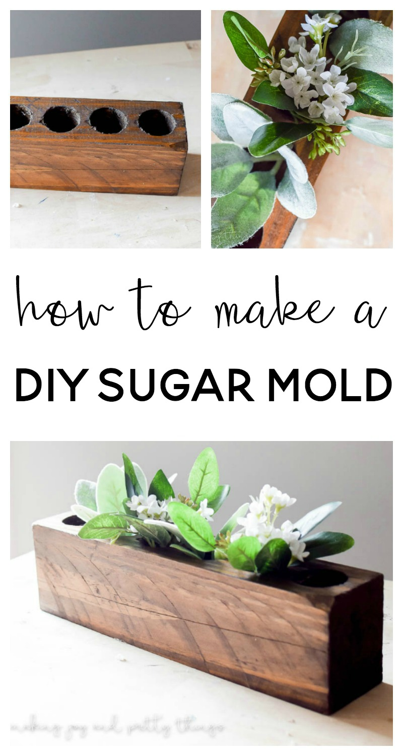 How to Make a DIY Sugar Mold full of rustic, farmhouse style charm perfect for a table centerpiece or shelf decor