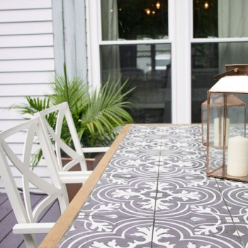 DIY Tile Topped Table