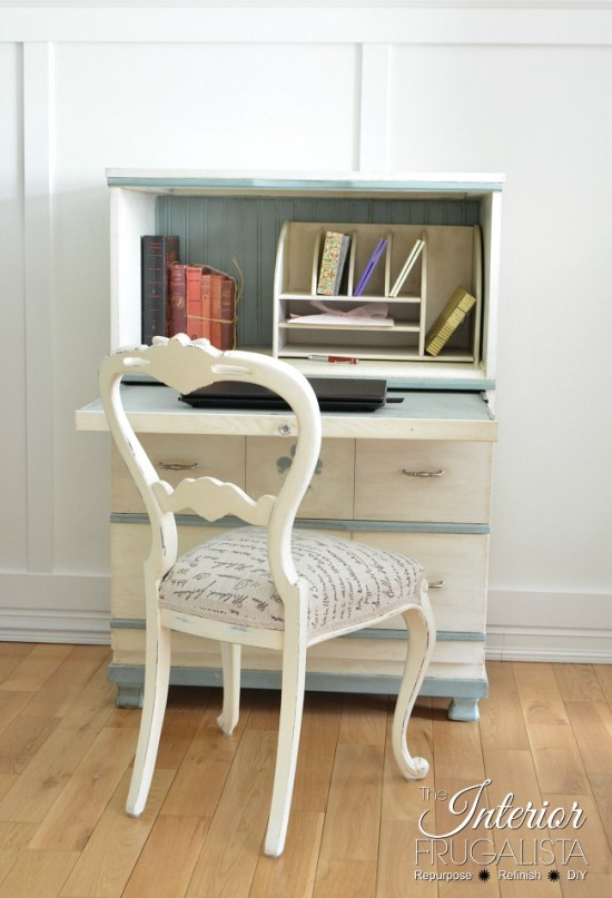 DIY Faux Secretary Desk
