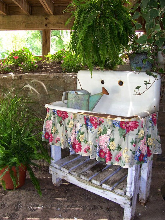 DIY Potting Sink