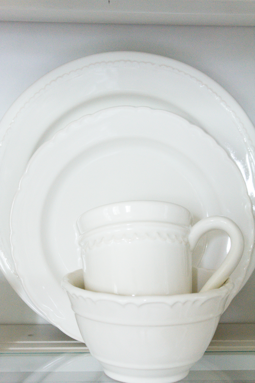 Simple ideas to help you style your china cabinet in farmhouse style... | & 50 Gorgeous White Dinnerware Sets with Farmhouse Style - making it ...